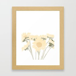 sunflower bouquet Framed Art Print