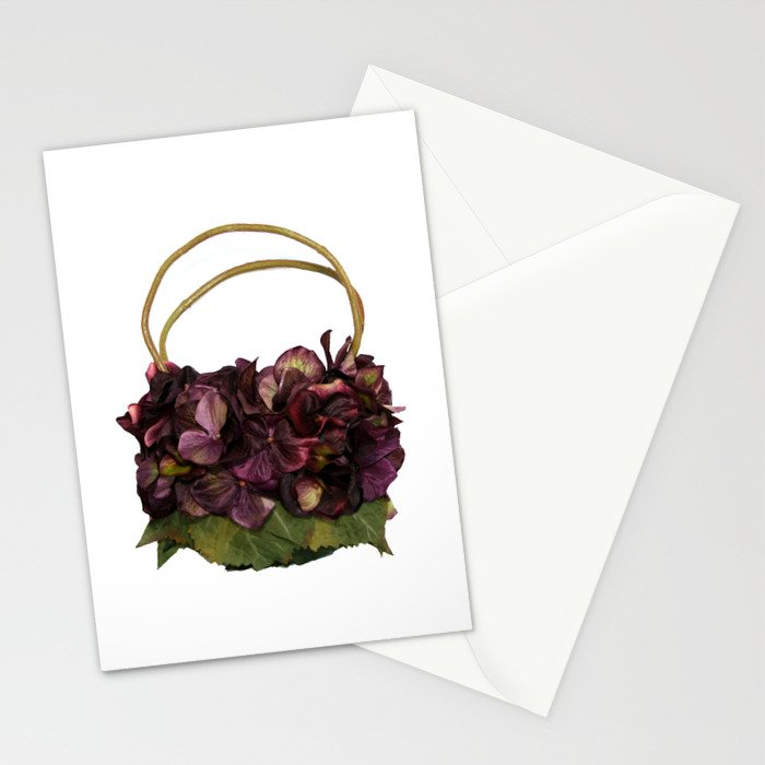 Purple Hydrangea Handbag Stationery Cards