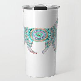 Cool Neon Cat Unique Travel Mug