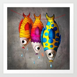 Fish Sale Art Print