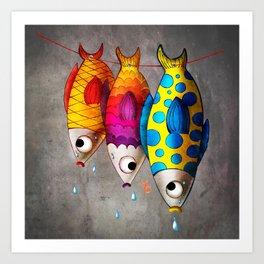 Fish Sale Art Print