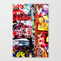 grafitti Canvas Prints featuring Grafitti by Emily Dolenz Photography