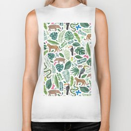 Jungle/Tropical Pattern Biker Tank
