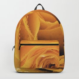 Yellow rose with water drops Backpack
