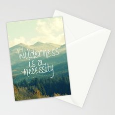Wilderness is a Necessity Stationery Cards