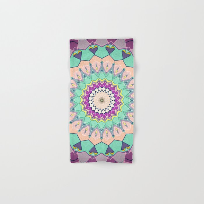 Colorful Symmetrical Abstract Hand & Bath Towel
