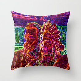 They Went Thataway Throw Pillow