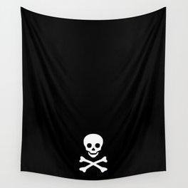 SKULL - BLACK & WHITE Wall Tapestry