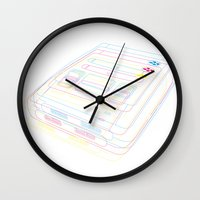 gaming Wall Clocks featuring SNES Gaming by Gudrun Galdean
