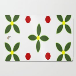 Flowers and Red Berries Cutting Board