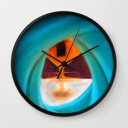 Square Leaking Sun Wall Clock