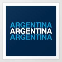 argentina Art Prints featuring ARGENTINA by eyesblau