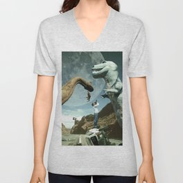 Dinosaur Road Trip Unisex V-Neck