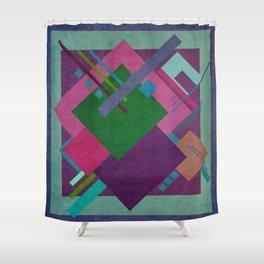 Geometric illustration 17 Shower Curtain