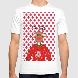 Ugly Christmas Sweater For Reindeers - Merry Christmas T-shirt