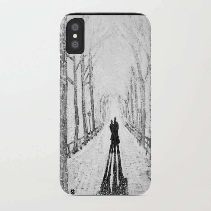 Winter Walk in the Park iPhone Case