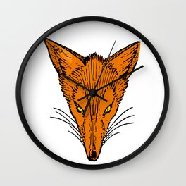 Fierce Fox Head Wall Clock