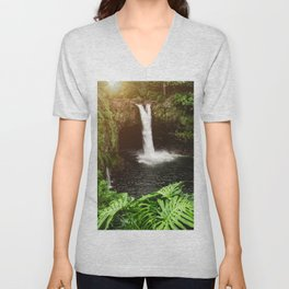 Jungle Waterfall - 32/365 Unisex V-Neck