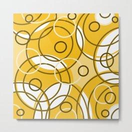 Circles nuetral Metal Print