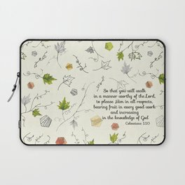 Colossians 1:10 Laptop Sleeve