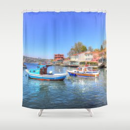 Boats on The Bosphorus Istanbul Shower Curtain