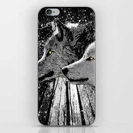 WOLF OF THE NIGHT FOREST iPhone Skin