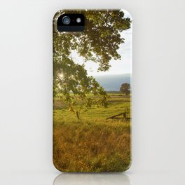 Autumn Countryside Landscape Sunset iPhone Case