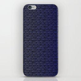 Binary Blue iPhone Skin