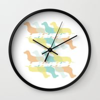 dachshund Wall Clocks featuring Dachshund by JFdesigns