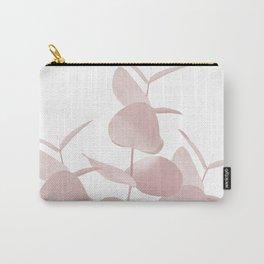 Eucalyptus Leaves Blush White #1 #foliage #decor #art #society6 Carry-All Pouch