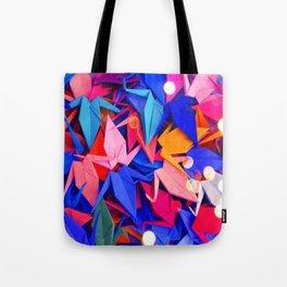 Senbazuru | pink and blues Tote Bag