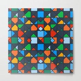 Colorful Kaleidoscope Architectural Geometric Pattern Metal Print