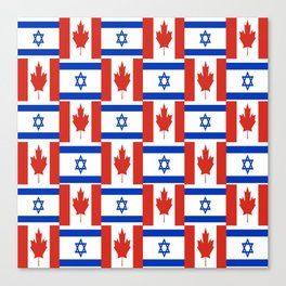 Mix of flag : canada and israel Canvas Print