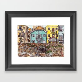 Buarcos Buildings, Portugal Framed Art Print