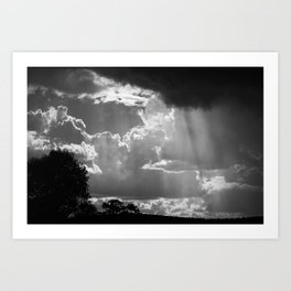 Sun Shower, Kelvin, NSW, Australia Art Print