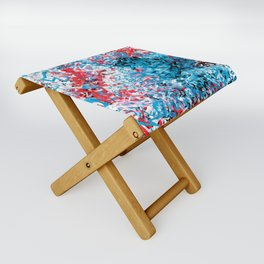 Demonic Toy Poodle Abstract Folding Stool