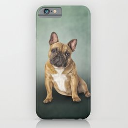 Drawing dog French Bulldog iPhone Case