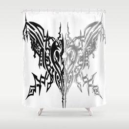 Tribal Arachne Plated and Black Shower Curtain