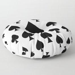 LOTS OF DECORATIVE BLACK SPADES CASINO ART Floor Pillow