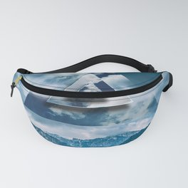 polyscape triangle mountain pass abstract digital art  Fanny Pack