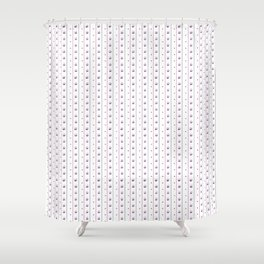 Orchid/Navy Stripe Shower Curtain