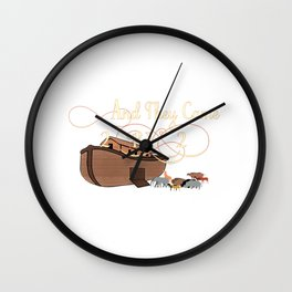 And They Came Two By Two Noahs Ark Animal Lover Wall Clock