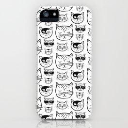 Cartoonish Cat Pattern Design iPhone Case