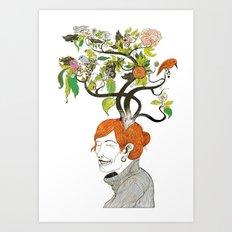 Thinking Green Art Print