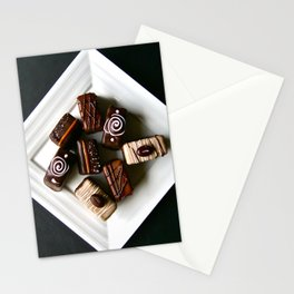 Chocolate petits fours Stationery Cards