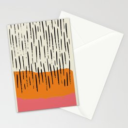 Lines abstract color box Stationery Cards