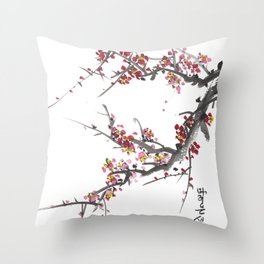 Cherry Blossom One Throw Pillow