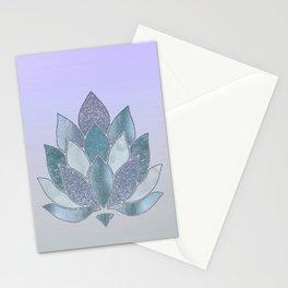Elegant Glamorous Pastel Lotus Flower Stationery Cards