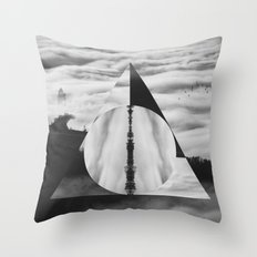 The Tale of Three Brothers - Deathly Hallows Throw Pillow