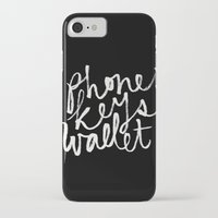 wallet iPhone & iPod Cases featuring phone, keys, wallet! by molly ennis